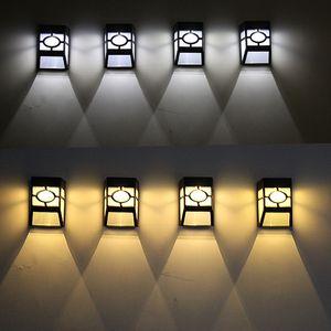 8 قطعة / الحزمة الهواء بالطاقة الشمسية جدار جبل 2-LED مهمة نمط الشمسية المؤخرة أضواء اللكنة بارد الأبيض للضوء المشهد حديقة