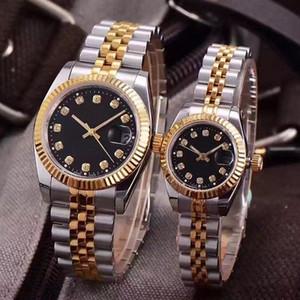 Luxo Relógios de pulso dos amantes Casais clássico do estilo de movimento automático mecânico Moda Masculina Mens Women Womens Watch Relógios de pulso