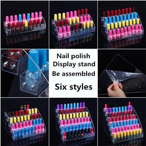 TONVIC acrylique Voir Cosmétiques assemblé Nail Holder Lipstick polonais de stockage Orgonizer Display Stand