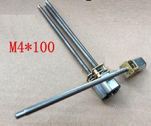 2 PCS N20 M4 * 100mm Grande Parafuso do Motor Da Engrenagem Micro Rosca Do Motor DIY Motor DC Miniatura Com 100mm de Comprimento do Eixo