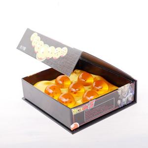 Marca de fábrica nueva animación Dragonball 7 estrellas sistema al por mayor de cristal Bola de cristal de 7pcs con caja de regalo de dragon ball Z Goku 4.2CM