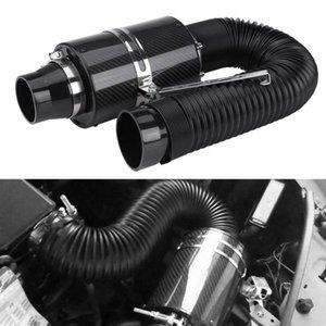 """il trasporto libero 76 millimetri 3"""" Kit filtro dalla presa di auto scatola Titolo fibra di carbonio Ram induzione presa dell'aria fredda sistema di filtro tubo flessibile Cold Car Air Induction"""