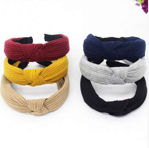 Womens Stirnband Twist Hairband Bow Knot Cross Tie samt Headwrap Haarband Hoop Turban Headwear HairBands Haarschmuck