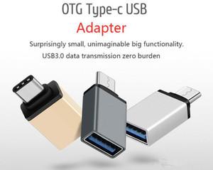 Adaptateur USB 3.1 Type C OTG métal mâle à USB 3.0 Un adaptateur de convertisseur femelle OTG Fonction pour Macbook Google Chromebook
