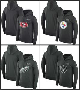 Сан - Франциско 49er Питтсбург Стилерз Филадельфия Иглз Oakland Raider Мужчины Женщины Crucial Поймайте Производительность пуловер Hoodie