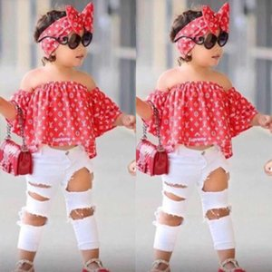 Neonate set Casual Top Kids Fashion Pant due pezzi dei bambini estate vestito delle ragazze di charme Outfits