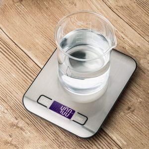5000g / 1g LED Digital Digital Balanzas de cocina Multifunción Balanza de alimentos Acero inoxidable LCD Escala de joyería de precisión Peso