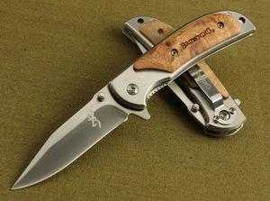 Oferta especial Browning 338 FA15 bolsillo plegable cuchillo que acampa al aire libre senderismo Pequeño cuchillos plegables cuchillo con el paquete de la caja original en papel