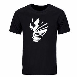 여름 BLEACH 쿠로사키 Ichigo 힙합 프린트 남성 캐주얼 스트리트웨어 드레이크 반팔면 남성 T 셔츠 DIY-0309D