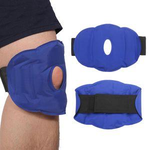 Emballage de gel chaud de gel de thérapie de compression chaude pour le genou / le veau / le tibia / le genou la protection de genou extérieure