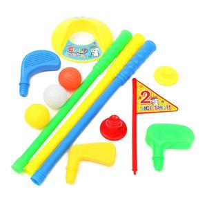 Toptan! Golf Set Atıcı Plastik 3 Topları + 2 Tees + 3 golf Işaret + Golf Delik Çocuklar Oyuncak