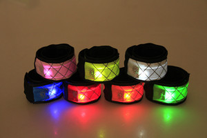 Led Wristband Sport Slap Wrist Strap Bands Light Flash Bracelet Glowng Armband Strap For Party Concert Armband In XMAS Halloween Toy