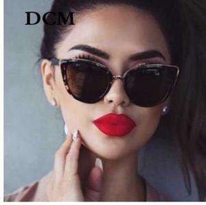DCM Cateye Sunglasses Women Vintage Gradient Occhiali Retro Cat eye Occhiali da sole Female Eyewear UV400