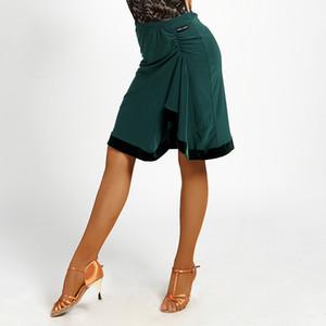 2018 Jupes danse latine Femme Femme Sexy Lady Salle de bal Costumes Rumba Cha-Cha Samba Dance Practice Jupes Wear DN1500
