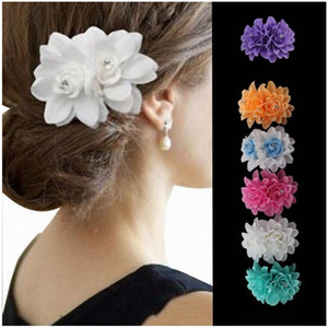 Hot Beauty Flower Hair Clips For Girls Bohemian Style Floral Women Girl Hairpins Accessories Blooming Headwear