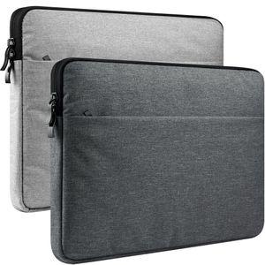 노트북 소매 크롬 북 휴대용 케이스 커버 11.6-16 13 인치 애플 맥북 에어 프로 M1 Dell 표면 Samsung HP Acer Asus Lenovo 액세서리 보호 가방 캔버스