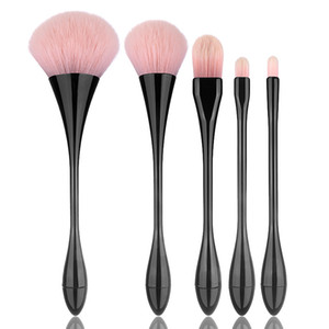 5pcs Goblet Shaped Makeup Brushes Set Powder Foundation Concealer Contour Eyeshadow Blending Brush Makeup Brushes Kit