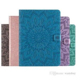Mandala flor en relieve Sleep Wake UP Flip Wallet Stand PU Funda de cuero para ipad Mini 123 4 Nuevo ipad 9.7 2017 2018 234 Air 1/2 T280 T350