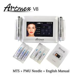 Перманентный макияж машина цифровой Artmex V8 сенсорный татуировки набор глаз бровей губ Ротари Pen MTS система татуировки pen