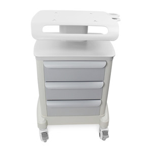 New Trolley Roller Mobile Medical Cart With Draws Assembled Stand Holder For Salon Spa HIFU Machine