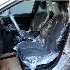 50 adet / takım Otomotiv Tek Kullanımlık Plastik Koltuk Araç Bakım Güzellik Pe Tek Otomotiv Araba Koltuğu Kapağı Toz ve kir