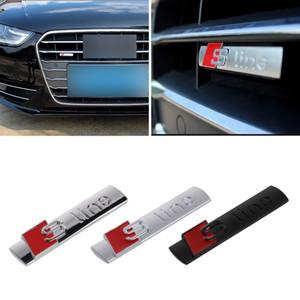 Automóviles Nuevos 3D del coche de metal etiqueta engomada del coche de la línea S Cubiertas para Audi A3 Sline Logo A4 A5 A6 Q3 Q5 Q7 Auto Decal Accesorios Car Styling