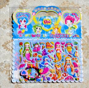 Одевание девушка 10 листов мода 3D мультфильм наклейки игрушки детские развивающие игрушки ручной работы декоративные наклейки с жемчужными браслетами