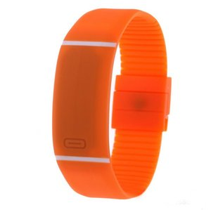 NEW stripes design students sport led digital watches fashion unisex mens women boys girls gift party candy jelly bracelet watch