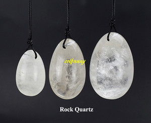 3 teile / satz Jade Ei Gebohrte Kristallkugeln Natürliche Rock Quarz Yoni Eier Für Kegel Übung Healing Reiki Frauen Gesundheitswesen