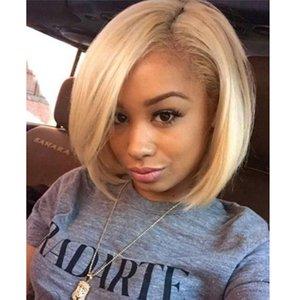 브라질 613 Blonde Human Hair Bundles with 레이스 정면 스트레이트 바디 웨이브 # 613 1B / 613 옹 브르 블론드 헤어 위브 익스텐션