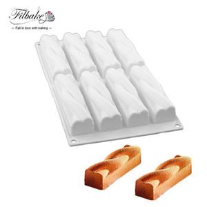 도매 8 캐비티 실리콘 금형 Twinkie 에너지 바 머핀 브라 우니 치즈 금형 초콜릿 디저트 케이크 장식 도구