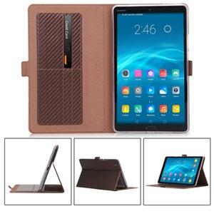 탄소 섬유 패턴 플립 책 표지 Huawei Mediapad M5 8.4에 대 한 PU 가죽 케이스 SHT-AL09 SHT-W09 카드 슬롯 30pcs와 태블릿