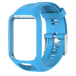 20mm Silicone Replacement Wrist Band Strap For TomTom Runner 2 3 Spark 3 GPS Watch Crust Pro