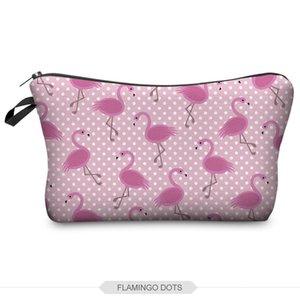 Impresión en 3D Travel Cosmetic Bag Hot-selling Mujeres Marca Nuevo Maquillaje Almacenamiento Cosmetic Bag Maquillaje Organizador H53