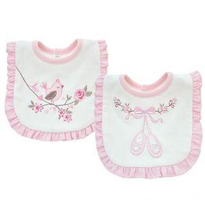 Ребенок нагрудник кружева полотенце двойной хлопок вышитые нагрудник слюни отрыжка ткани китайский стиль детское питание нагрудники