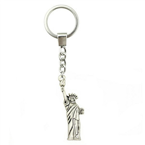 6 Pieces Key Chain Women Key Rings Couple Keychain For Keys Statue Of Liberty 49x14mm YSK-B10216
