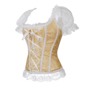 중세 기름 옷감 Long Maxi Medieva 코르셋 꼭대기 농민 Wench Victorian Dress 빈티지 퍼프 슬리브 르네상스 복장 코르셋 꼭대기