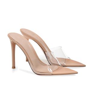 2019 summer new fashion shoes women sandals peep toes transparent pvc stiletto heel zapatos mujer feminino melissa sandalia party shoes