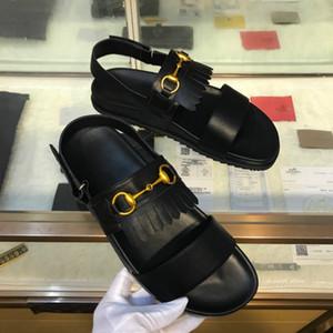 2018 sandali degli uomini di fascia alta moda tendenza pantofole di marca di lusso del progettista scarpe fatte a mano fabbrica di trasporto di punizione di prima