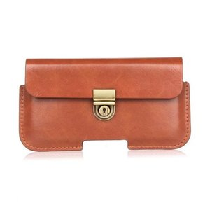 Caso de capa de bolsa de clipe de cinto de couro pu universal para meizu m2 note / pro 5