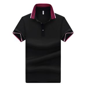 Camisa de algodón para hombres Cool Summer Striped On Stand Collar Manga corta Camisa Homme Top