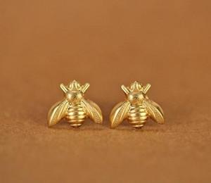 10 Pair oro argento miele ape orecchini piccolo honeybee orecchini a lobo woodland insetti fly bird miele bumble ape orecchini kka1781