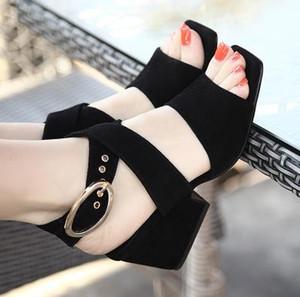 PLUS GRÖSSE 41 42 43 Scarpe Estive Donna Sandali 2018 delle Donne ~ Tacco Quadrat Sandali Gladiatore ~ Kreuz-Legato Sandalo Degli Alti Tallon