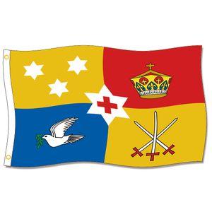 [Gute Flagge] Royal Standard von Tonga Flags 3X5FT 150X90 CM 100% Polyester, Leinwand Kopf mit Metall Tülle, drinnen oder draußen