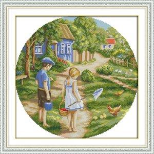 Queridos de infância diy home decor pinturas, Handmade Cross Stitch Bordado Needlework define contados impressão sobre tela DMC 14CT / 11CT