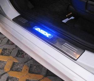 미츠비시 ASX RVR 2011 2012 2013 2014 2015 년을위한 LED 스테인리스 슬리퍼 격판 덮개 문 문턱 4pcs / set 차 부속품