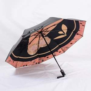 Owl C pattern Umbrella For Classic Women Automático abierto y cerrado Luxury Vintage Umbrella umbrella for Rain o sunshie with gift Box