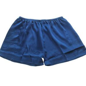 Venta al por mayor envío gratuito Shorts hombres 100% de seda de morera suelta Casual Lounge pantalones verano de seda Bottons ropa interior Boxers