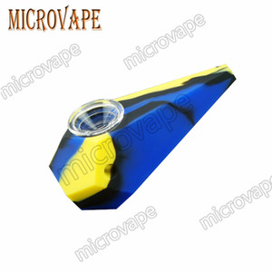 12 Farben Silikon Rig Tabacoo Silikon Pfeife Hand Löffel Rohr Wärme Shisha Bongs Silikonöl Dab Rig J01