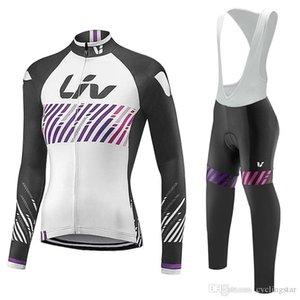 2017 новый LIV женщины Велоспорт трикотажные изделия велосипед с длинным рукавом одежда осень дышащий велоспорт одежда велосипед открытый спортивная одежда C2507